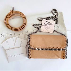 ⭕️ STELLA McCARTNEY Belt Bag Crossbody Beige Nude